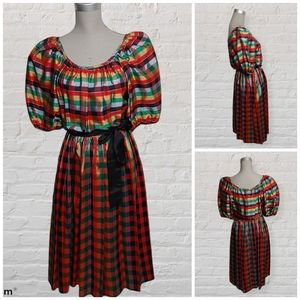 Vintage Joseph Ribkoff checkered dress size M